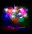 holiday golden fireworks vector image