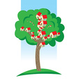 Houses growing on tree vector image