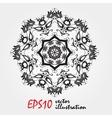 mandala highly detailed zentangle inspired vector image