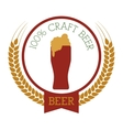 premium quality craft brew beer vector image
