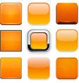 Square orange app icons vector image