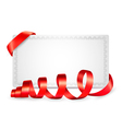 Card notes with red gift bows with ribbons vector image