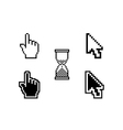 set of different cursors vector image vector image
