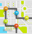 road point information art map vector image