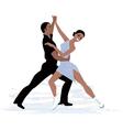 Couple ice dancing vector image