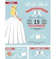 Bridal shower template setLovely Bride vector image