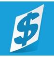 Dollar sticker vector image