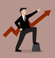 Businessman with graph up vector image