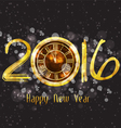 Happy New Year 2016 - Old clock vector image
