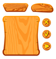 wooden game assets vector image