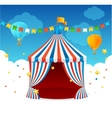 Circus Tent Card vector image