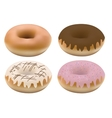 four donuts vector image