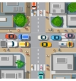 Urban crossroads with cars vector image