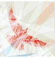Red bird vector image