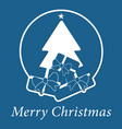 blue wishes with text - christmas tree and gifts vector image