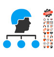 builder management links icon with dating bonus vector image