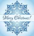 Christmas cute snowflake design with a place for vector image