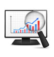 Computer Monitor with Graph vector image
