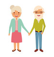 cute couple the old woman and man grandparents vector image
