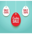 Easter Sale background poster with eggs and vector image