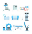 innovational medical diagnostic equipment set of vector image