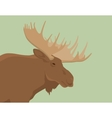 moose head live view from side vector image