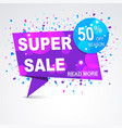 super sale origami paper banner discount with vector image
