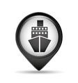 marine pin map sign design vector image