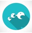 small fish eats the big fish icon vector image
