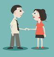 Man and Woman Holding Hands vector image vector image