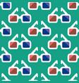 3d cinema glasses pattern vector image