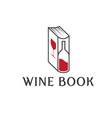wine book design template vector image