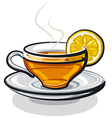 tea with lemon vector image