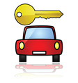 compact car with a key vector image