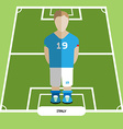 Computer game Italy Soccer club player vector image