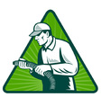 tradesman home insulation vector image