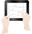 cloud with computer tablet vector image vector image