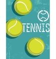Tennis vintage grunge style poster vector image