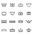 line crown icon set vector image