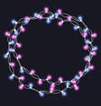 christmas tree string garland in circle vector image