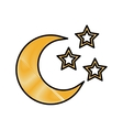 crescent moon icon image vector image