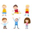 cute cartoon children set vector image