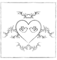 Doves with Heart vector image