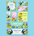 easter day greeting tag label and poster set vector image