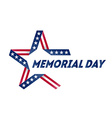 Memorial Day star made of ribbon in national flag vector image