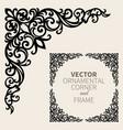 ornamental corner frame vector image