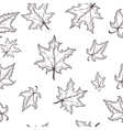 seamless pattern with hand drawn black vector image