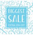 winter mobile banner sale vector image