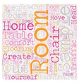 How To Create A Comfortable Room text background vector image