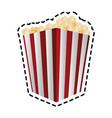popcorn bucket icon image vector image